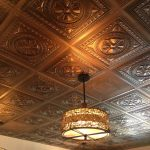 "Argonaut – Faux Tin Ceiling Tile – 24 x 24 – #DCT01 - Aged Copper - Installed at ""Blue Daisy Cafe"""
