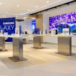 "Fusion Wall Murals – Bokeh Purple - Installed at ""Samsung Showroom"" - USA"