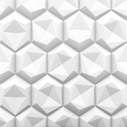 Hexagon 2ft. x 2ft. Seamless Glue-up Wall Panel (64 Sq. Ft. / Pack)