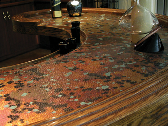 Patina Malachit Laminate Copper – Unique Art – NuMetal – #C414