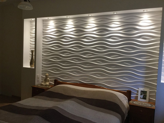 Ocean 2ft. x 2ft. Seamless Glue-up Wall Panel