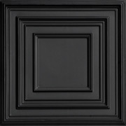 Schoolhouse - Faux Tin Ceiling Tile - 24 in x 24 in - #222 - Black