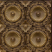Paisley Daisies - Faux Tin Ceiling Tile - Glue up - 24 in x 24 in - #235