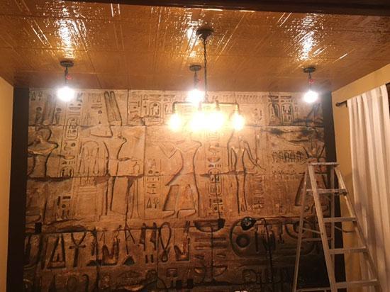 Tutankhamun's Tomb – Tin Ceiling Tile – 24″x24″ – #2493