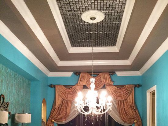 Cobblestone Styrofoam Ceiling Tile 20 in x 20 in – #R25