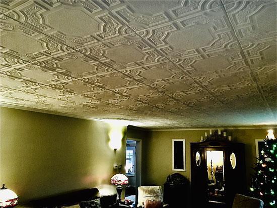 Evergreen Glue-up Styrofoam Ceiling Tile 20 in x 20 in – #R28c