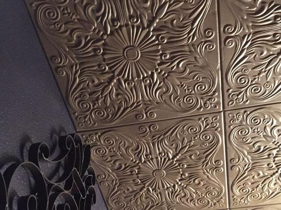 Spanish Silver Styrofoam Ceiling Tile 20 in x 20 in – #R139