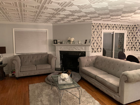Chestnut Grove Glue-up Styrofoam Ceiling Tile 20 in x 20 in – #R 31