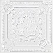 Elizabethan Shield - Faux Tin Ceiling Tile - 24 in x 24 in - #DCT 04