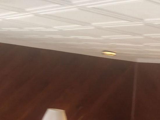 Line Art Glue-up Styrofoam Ceiling Tile 20 in x 20 in – #R 24