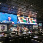 Banker's Hours - Faux Tin Ceiling Tile - 24 in x 24 in - #224 - Installed at Golden Circle Sports Bar - Las Vegas, Nevada, USA