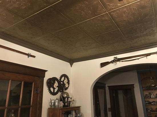 Ivy Leaves Glue-up Styrofoam Ceiling Tile 20 in x 20 in – #R37