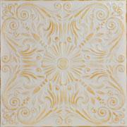 Spanish Silver Styrofoam Ceiling Tile 20 in x 20 in - #R139