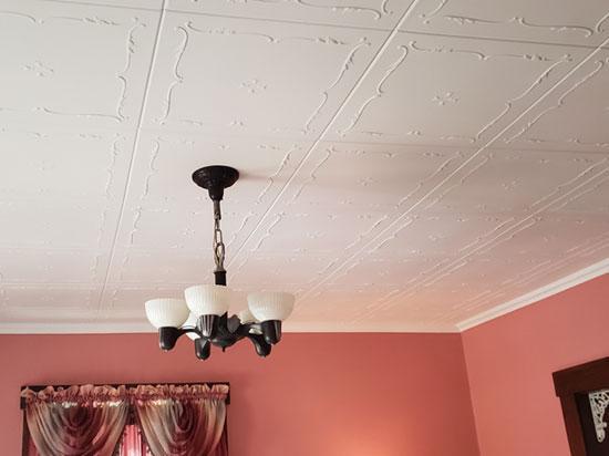 Spring Buds Glue-up Styrofoam Ceiling Tile 20 in x 20 in – #R 05