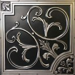 lillies_and_swirls_faux_tin_ceiling_tile_204_antique_silver