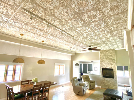Faux Tin Ceiling Tile – 24 in x 24 in – #DCT 18