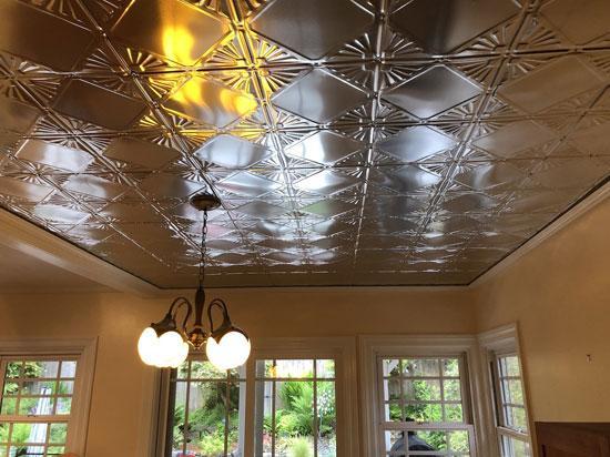 Checkered Deco – Tin Ceiling Tile – #1205