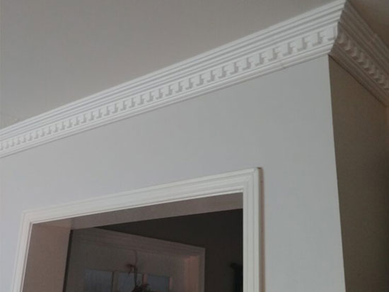 Dentil Glue-up Styrofoam Crown Molding 5″ Wide 6.5 ln. ft. Long – #GK 17