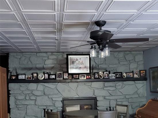 Line Art Glue-up Styrofoam Ceiling #R 24