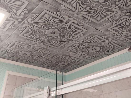Victorian Glue-up Styrofoam Ceiling Tile 20 in x 20 in – #R14