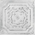 elizabethan_shield_faux_tin_ceiling_tile_24_in_x_24_in_dct_04_old_black_white