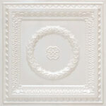 laurel_wreath_faux_tin_ceiling_tile_210_white_pearl