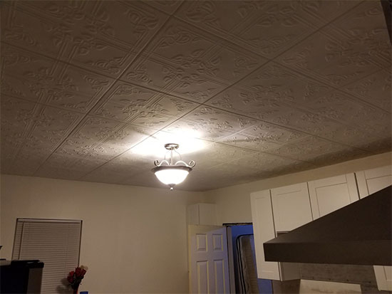Ivy Leaves Glue up Styrofoam Ceiling Tile 20 in x 20 in #R37