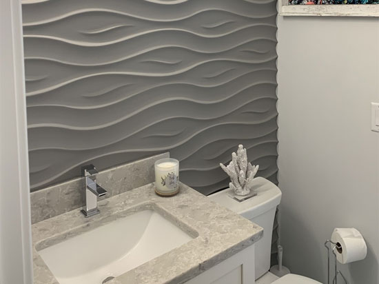 Ocean 2ft. x 2ft. Seamless Glue-up Wall Panel