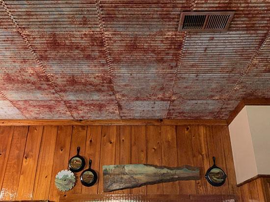 Ridged Metal – Corrugated Faux Tin Ceiling Tile #261