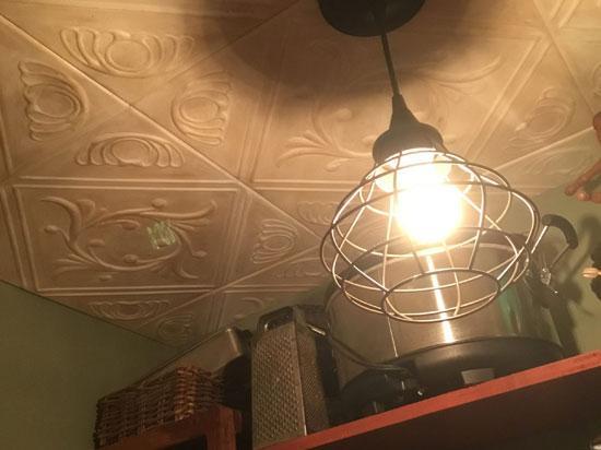 Diamond Wreath Glue-up Styrofoam Ceiling Tile 20 in x 20 in – #R02